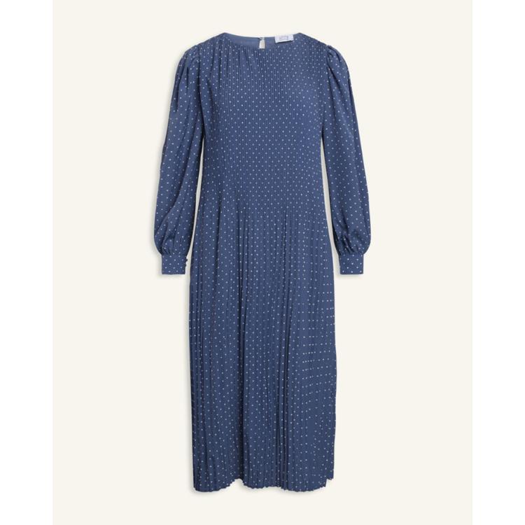 Plisseret kjole m. prikker