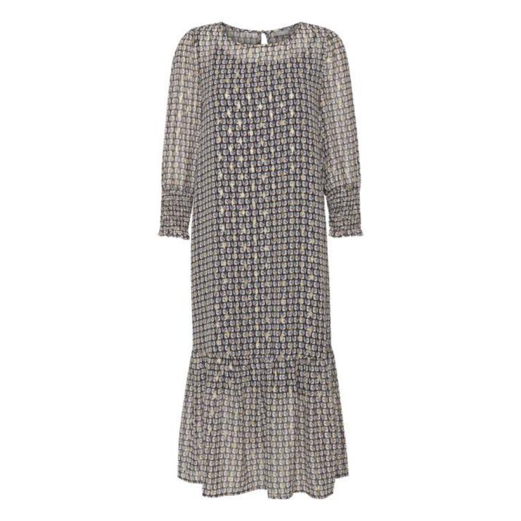 Frnagraphic kjole m. smock