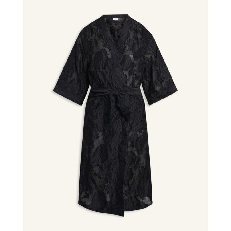 Kimono m. blonde mønstre