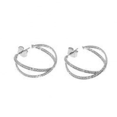Små fine sølv hoops