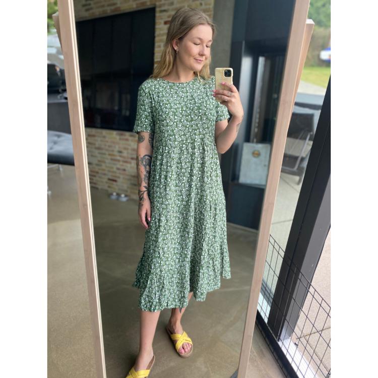 Pcrebecca midi kjole